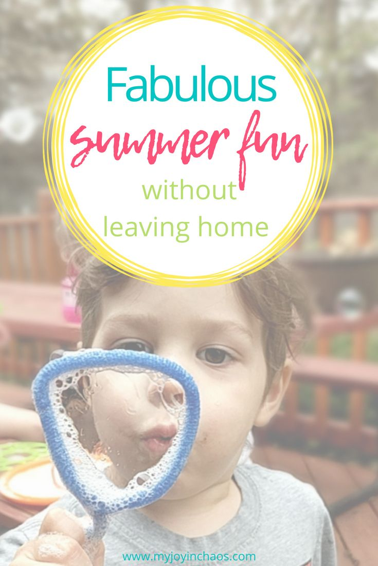 Fabulous family summer fun – without ever leaving home!