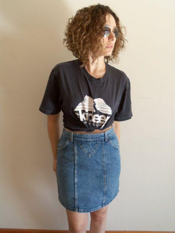 Vintage Hipster Rocker 80s 90s High Waist Denim by FunkyOldSoul