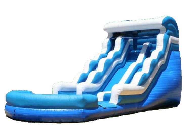 Buy 18 FT Blue Lagoon Water Slide, Wholesale Blue Lagoon Inflatable Slide Uk For Sale, Home Blue Water Slide Manufacturer