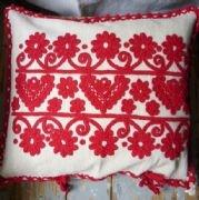 Embroidered cushion from Kalotaszeg