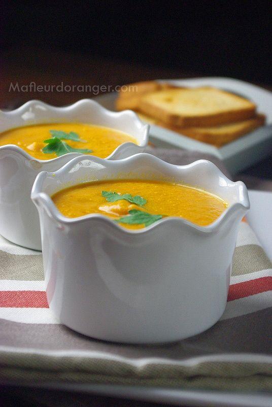 Soupe veloutée aux carottes et lentilles corail - Ma fleur d'oranger