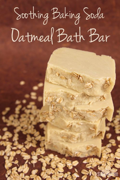 DIY Handmilled / Rebatched Soothing Baking Soda Oatmeal Bar Soap Recipe