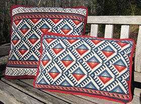 ANATOLIA - a cross-point TM pattern in red, white and blue but also available in more traditional colors