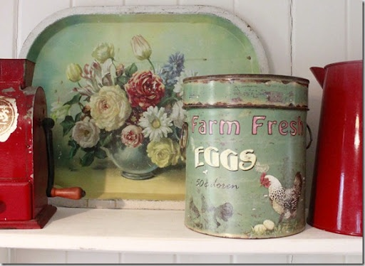 Vintage Tray & Canister