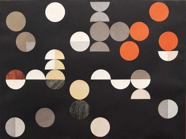 Sophie Taeuber-Arp, Komposition mit Kreisen und Halbkreisen, 1938