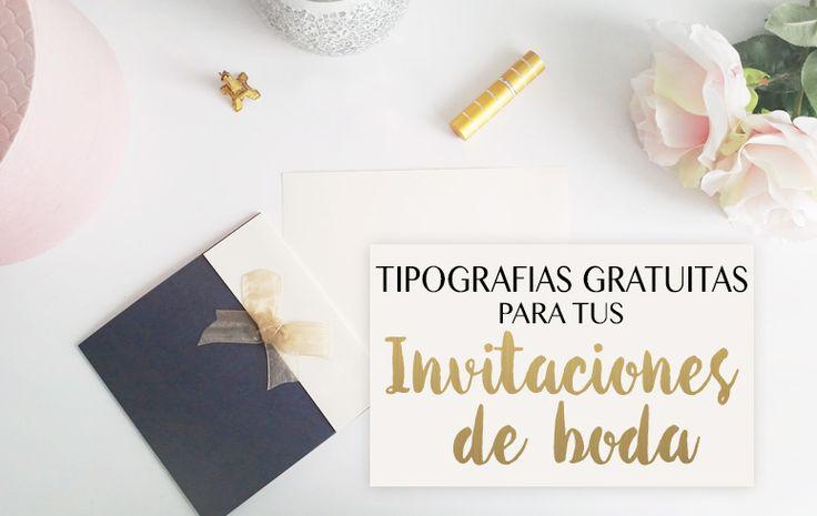 Selección de 16 tipografías gratuitas para tus Invitaciones de Boda. Completamente gratuitas para descargar, tipografías script