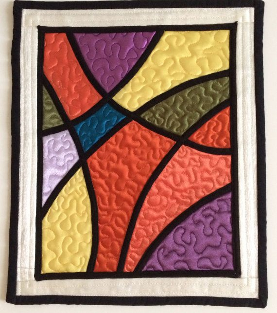 155 Best Images About Quilts Stained Glass On Pinterest