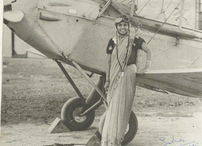 Sarla Thakral born in 1941 was the first Indian woman who flew an aircraft. She was a licensed pilot and at the age of 21 she flew a Gypsy Moth Solo and was the mother of a four year old daughter at that time.