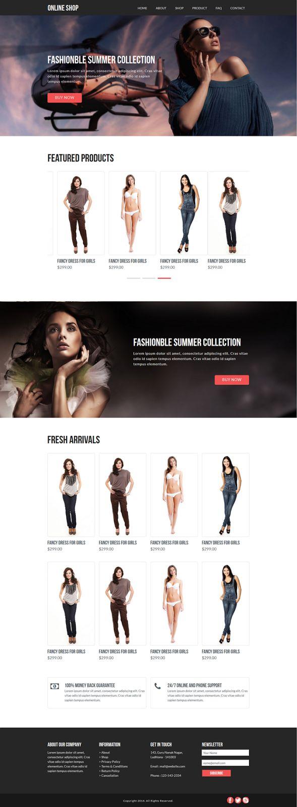 Best eCommerce Muse Template #webdesign #shopping #adobe