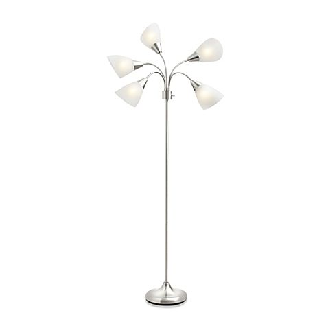 Contemporary and sleek, this Studio 3B 5-Light Floor Lamp is a must for any modern décor. The 5 flexible gooseneck arms focus light where you need it, and a 4-way switch lets you illuminate all lights or just a few at a time.