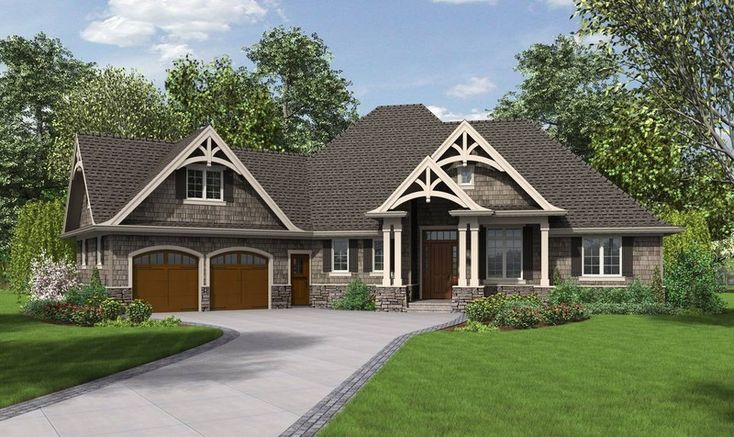 """Mascord Top 10: Ranch House Plans The Ripley House Plan 1248 