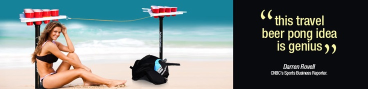 Portable Beer Pong Table - As seen on Jersey Shore! I WANT ONE!