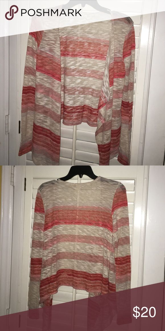 Red Camel cardigan Red Camel cardigan. Long sleeve coral and tan in color. Size small. Good condition Red Camel Sweaters Cardigans