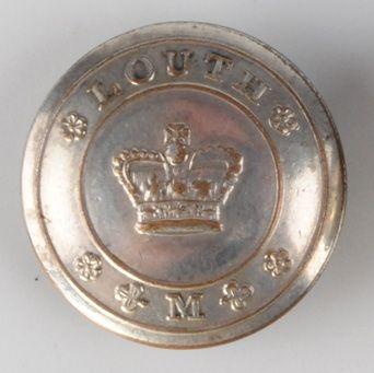 Louth Militia button by M. Murphy Dublin