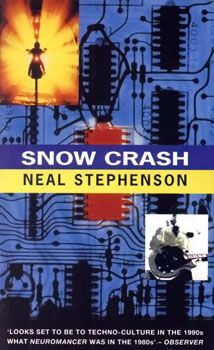 Snow Crash is Neal Stephenson's third novel, published in 1992. Like many of Stephenson's other novels it covers history, linguistics, anthropology, archaeology, religion, computer science, politics, cryptography, memetics, and philosophy. This book was ahead of it's time in many ways. Our family read it until it fell apart, then we bought a new copy.