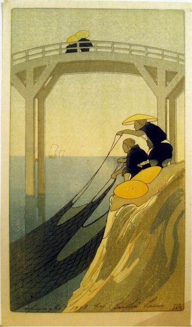 Bertha Lum 1912 Woodblock prints (Estampes) :: Fishermen
