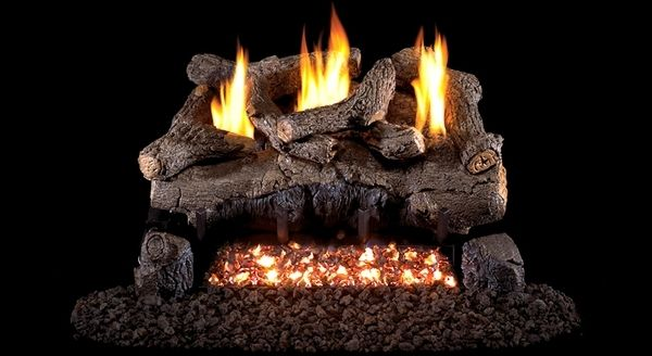 Real Fyre See Thru Evening Fyre Ventless Gas Logs Set