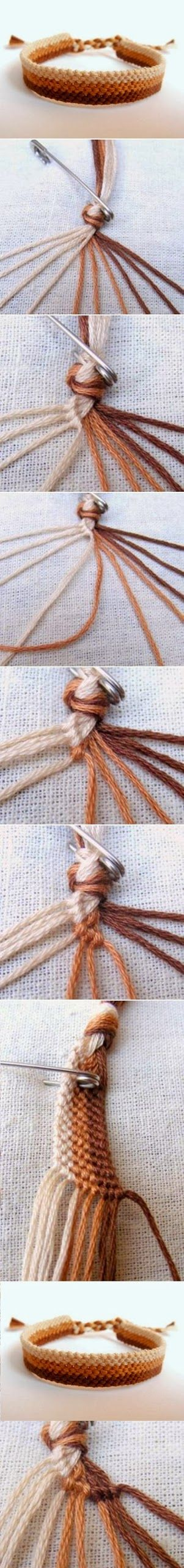 DIY : Easy Weave Bracelet - link is bad but picture tutorial here looks pretty easy to follow