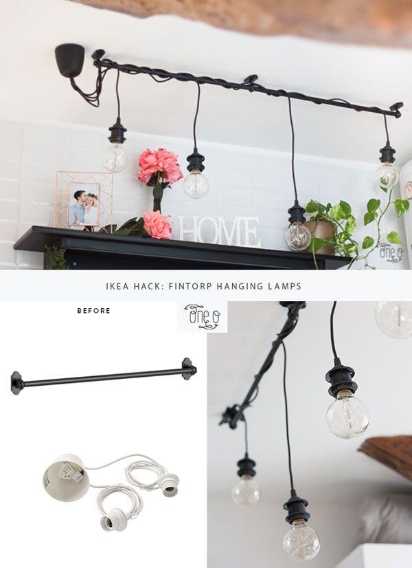 Ikea Hack: DIY Hanging Lights Chandelier | One O DIY