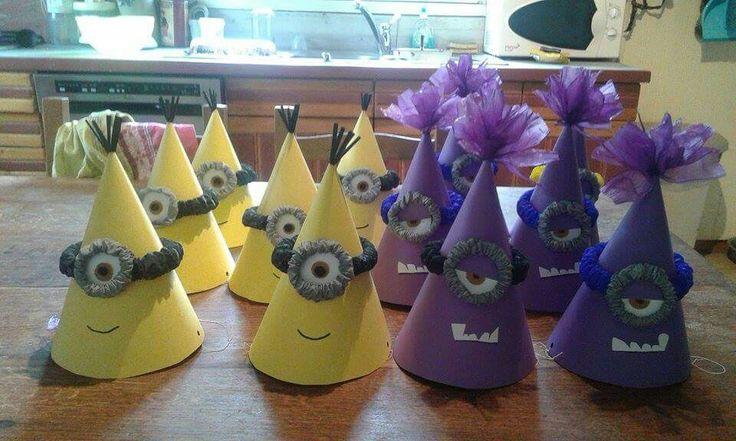 Gorros de Minions  para fiesta