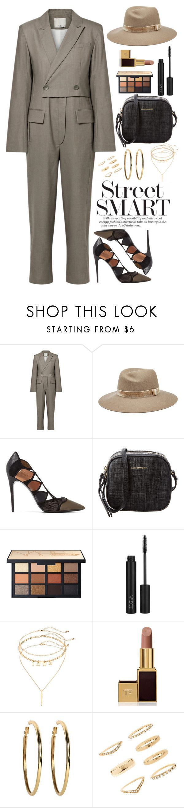 """Won't you follow me into the jungle?"" by chase-stars ❤ liked on Polyvore featuring TIBI, rag & bone, Salvatore Ferragamo, Alexander McQueen, ZOEVA, Mudd, Tom Ford, Kenneth Jay Lane and Forever 21"
