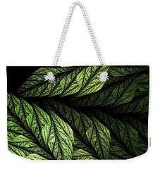 Weekender Tote Bag featuring the digital art Fern by Elena Ivanova IvEA  #ElenaIvanovaIvEAFineArtDesign #WeekenderToteBags #IvEA #Gift #Accessories #Design #Print
