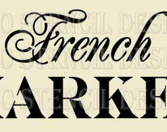 Diseño de la plantilla de euro... Mercado francés utiliza para almohadas de arpillera, ropa de cama, señal de pintura... 5.5 x 11,5 cm