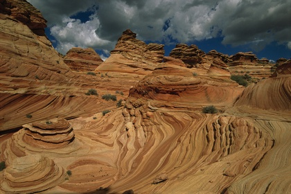 sandstone layers of Coyote Buttes, paria canyon vermillion cliffs, colorado plateau, by frans lanting