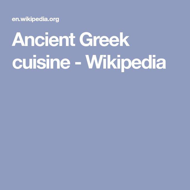 Ancient Greek cuisine - Wikipedia