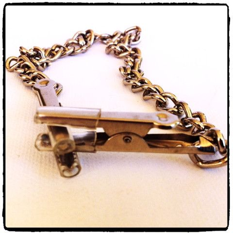 Clothes Pin Style Nipple Clamps with Chain – Lady Kink