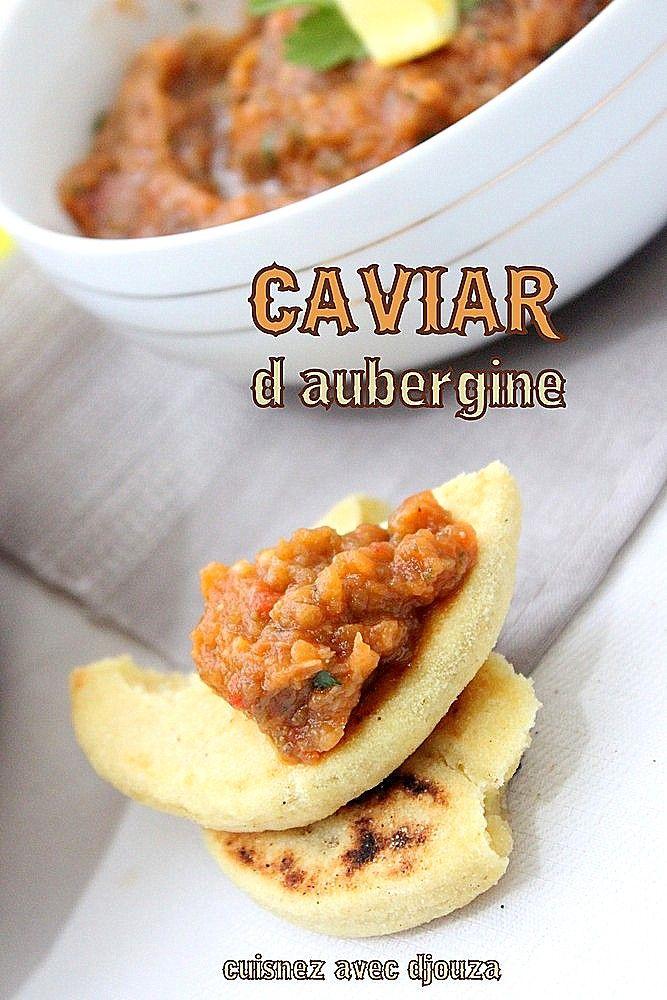 Caviar d'aubergines, purée d'aubergine