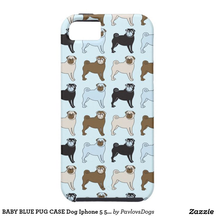 PUG van het BABY de BLAUWE Hond Iphone 5 van het Tough iPhone 5 Hoesje
