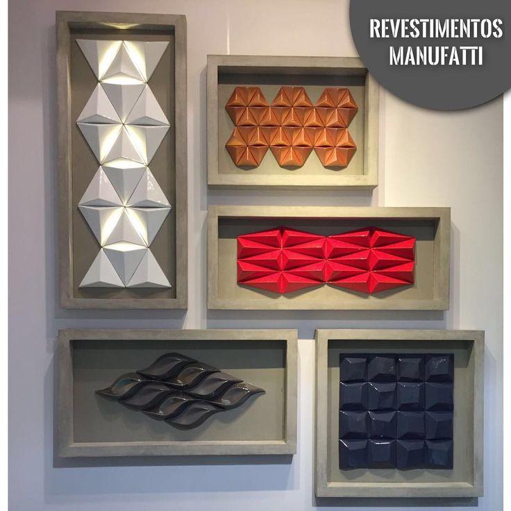 Porque eles são lindos até como quadros!  Uma parte dos nossos produtos! ❤️ Renove, Inove. Use Manufatti! #manufatti #revestimentos