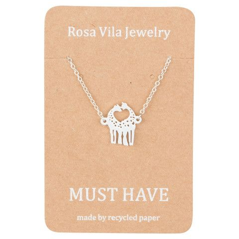 Giraffe Necklace - Cute Animal Necklace for Everyday Wear - Rosa Vila Jewelry  - 1