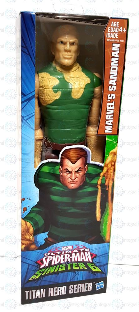 "Marvel Ultimate Spiderman Sinister 6 Titan Hero Series 12"" Sandman Figure 2015 #Hasbro"
