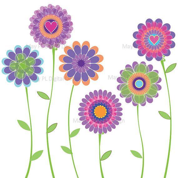 free scrapbook flower clipart - photo #18