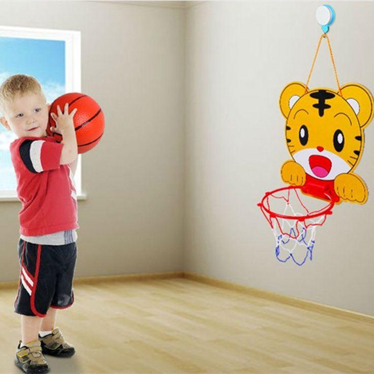 Cartoon Portable Plastic Basketball Hoop Toys Set Basketball Kids Indoor Outdoor Junior Net  For NBA Fans Kids Baby Adults