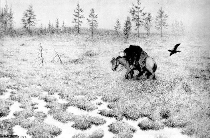 Black Death Theodor Severin Kittelsen Original Title: Svartedauen Date: 1900 Style: Neo-Romanticism Series: Svartedauen Genre: symbolic painting