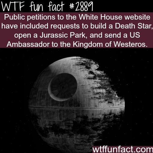 Best and weirdest petitions to the white house - WTF fun facts