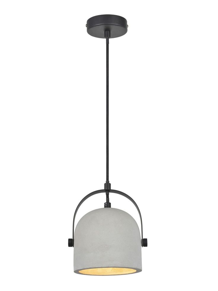 Finn 1 Light Pendant in Grey Concrete
