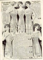 Here's a great ad for corsets from a 1912 catalogue. Note the corset on the lower left for nursing moms. These are extremely rare and valuable now