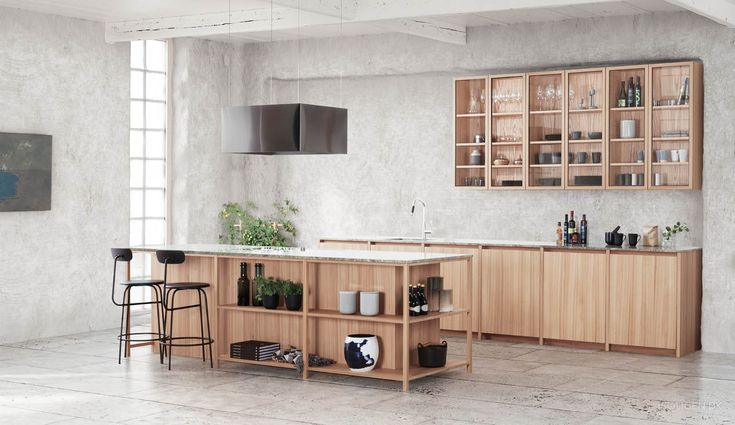 Are you up on the kitchen beat? Look at the nature kitchen and magic cabinets.
