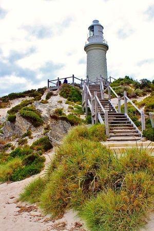 Lighthouse on Rottnest Island, Western Australia by Divonsir Borges