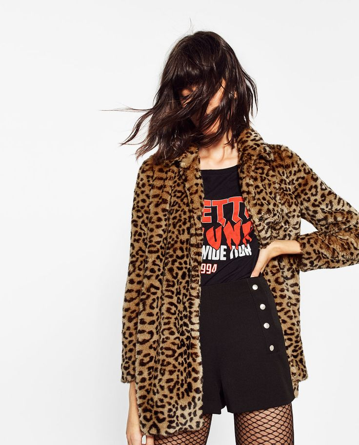 LEOPARD FAUX FUR COAT-View all-OUTERWEAR-WOMAN | ZARA United States