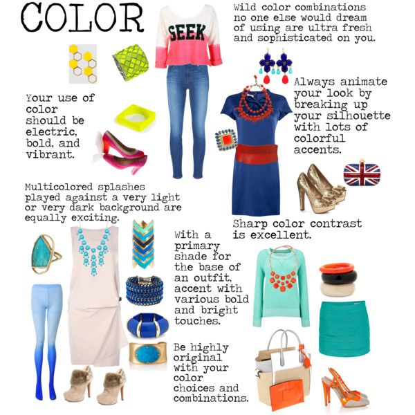 """""""Flamboyant Gamine (FG) Color"""" by lightspring on Polyvore"""