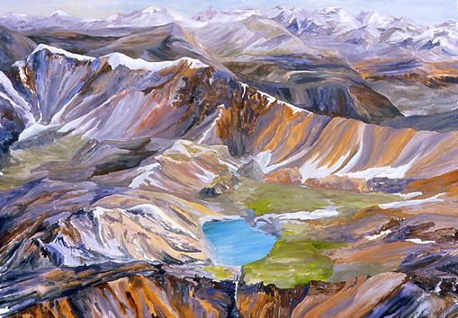 Blues Java Selection: Eileen Raucher Suttons' From an Eagle's Eye - Wilmore Wilderness:  Women's Art Museum Society of Canada online exhibit, 2012