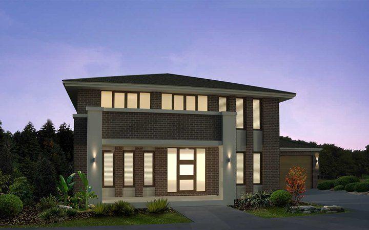 Metricon home designs the franklin oakpark facade for Home designs victoria