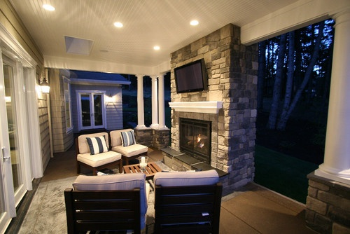 Covered Back Porch Design, Pictures, Remodel, Decor and Ideas