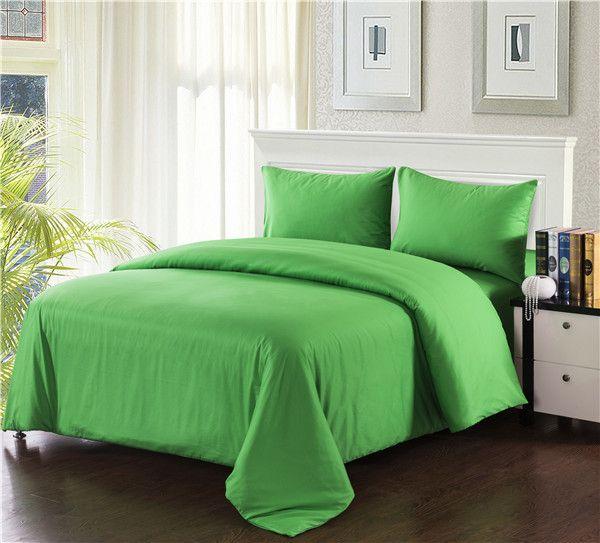 Tache 3 Piece 100% Cotton Solid Lime Green Duvet Cover Set-King