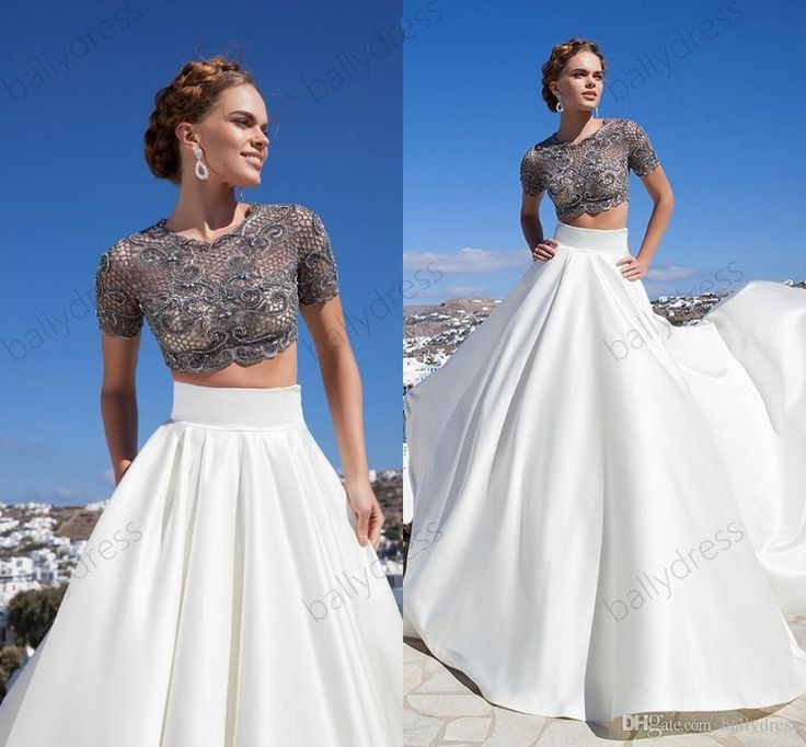 Cheap Tarik Ediz Dresses 2 Pieces Prom Dresses Lace Evening Dresses